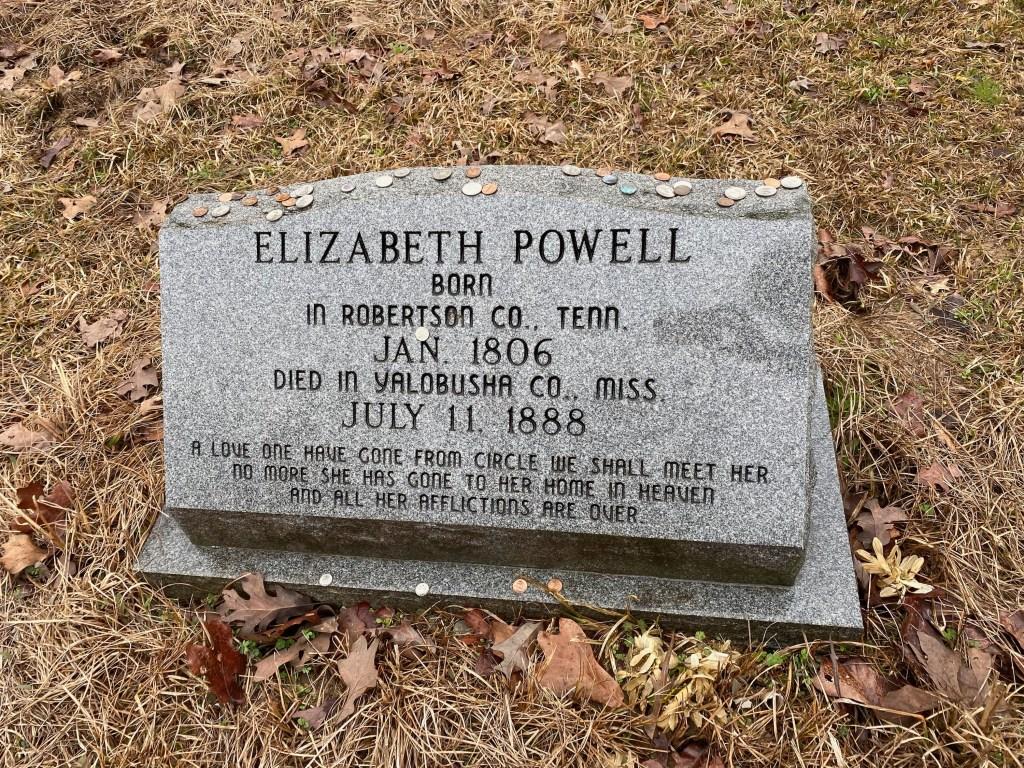 Photo of Elizabeth Powell's grave by Jimbo Mathus